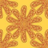 Seamless sea star doodle