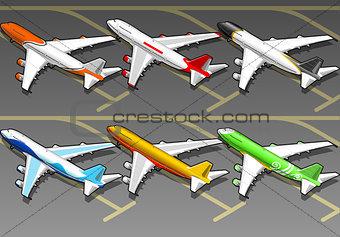 Airplanes 01 Vehicle Isometric