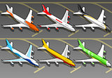Airplanes 02 Vehicle Isometric