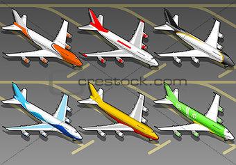 Airplanes 02 Vehicle Isometric