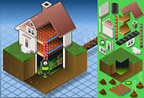 Biomass Energy 01 Building Isometric