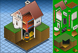 Boiler Energy 01 Building Isometric