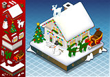 Christmas 01 Building Isometric