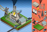 Coal Plant 01 Building Isometric