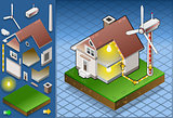 Eolic Turbine 01 Building Isometric