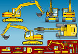 Excavator 02 Vehicle 2D