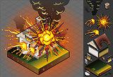 Explosion 01 Building Isometric
