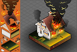 Fire Disaster 02 Building Isometric