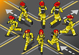 Firefighter 01 People Isometric