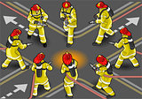 Firefighter 02 People Isometric