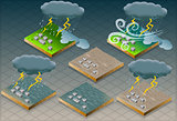 Flood Disaster 01 Infographic Isometric