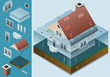 Flooded 01 Building Isometric