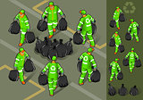 Garbage Man 01 People Isometric