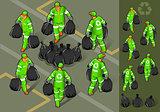 Garbage Man 01 People Isometric