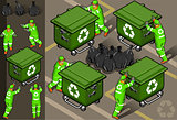 Garbage Man 03 People Isometric