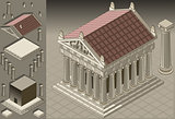 Greek Temple 01 Building Isometric