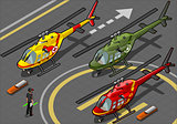 Helicopter 01 Vehicle Isometric