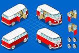 Hippie Van 02 Vehicle Isometric