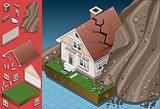 Landslide 01 Building Isometric