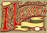 Menu Banner 03 Vintage 2D