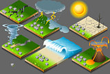 Natural Disasters 01 Infographic Isometric