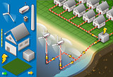 Offshore Turbine 01 Building Isometric