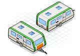 Roulotte 01 Vehicle Isometric