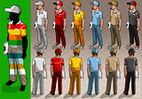 Service Man 02 People Isometric