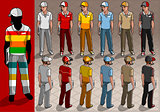 Service Man 03 People Isometric