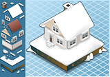 Snow 01 Building Isometric