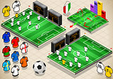 Soccer Fields 01 Sport Isometric