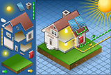 Solar Panel 01 Building Isometric