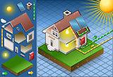Solar Panel 01 Building Isometric