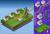 Solar Panel 03 Building Isometric