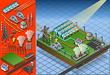 Termo Solar Plant 01 Building Isometric