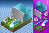 Watermill 01 Building Isometric