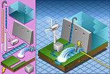 Watermill 03 Building Isometric