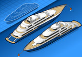 Yacht 01 Vehicle Isometric