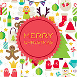 Flat Vector Merry Christmas Background
