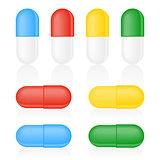 Medicine Capsule on white