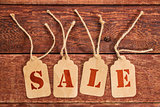 sale sign  on  price tags