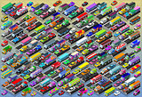 Cars Collection Vechicle Isometric