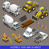 Construction 01 Vehicle Isometric