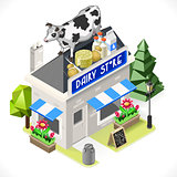 Dairy Products Building Isometric