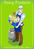 Dairy Services People Isometric