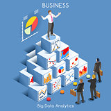 Data Analytics People Isometric