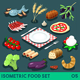 Diet Set 05 Food Isometric