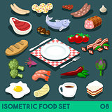 Diet Set 08 Food Isometric