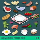 Diet Set 08 Food Isometric