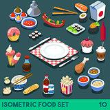 Diet Set 10 Food Isometric